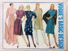1980s tunic skirt and dress Vogue 2798 Uncut vintage sewing pattern Petite Bust 31.5 Waist 24 Hip 33.5 Retro 80s casual wardrobe by 101VintagePatterns on Etsy