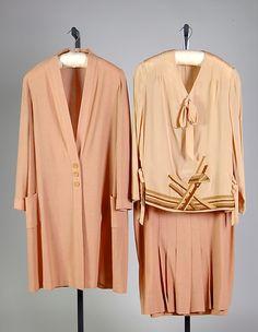 Suit Manufacturer: Golflex Date: ca. 1928 Culture: American Medium: wool, silk Accession Number: 2009.300.2529a–c