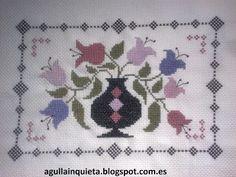 punt de creu, flors