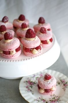Rose, Raspberry and Pink Peppercorn Macaron Sandwiches