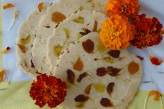 Celebrate Día de Los Muertos with your tortillero filled with these marigold tortillas. They are the perfect accompaniment to the festivity's mole, cochinita pibil or a simple queso fundido appetizer. Infused Tequila Recipe, Traditional Mexican Desserts, Day Of The Dead Party, Artificial Food Coloring, All Souls Day, Mexican Hot Chocolate, Marigold Flower, All Saints Day, Tortilla Recipe