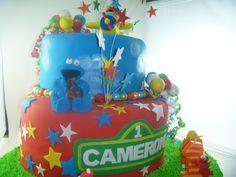 Camerons !st bday Sesame Street cake by Serena Bartok