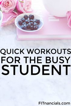 Check out this list of workouts for a busy student. This is such a helpful list.