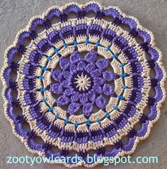 Zooty Owl's Crafty Blog: Dahlia Mandala: Pattern