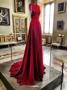 Photos from an exhibit of exquisite couture designer Azzedine Alaia pieces throughout the Borghese Gallery museum in Rome.