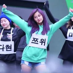 #qotd : tzuyu with brown or purple hair?  purple hair bc it looks bomb brown bc its more healthy for her hair #twice #트와이스 #jyp #tzuyu  song : cheer up by twice