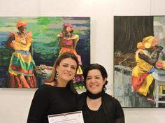 Yolanda Velásquez- Artist / Virginia Hernández GalerieLaSpirale.be Director / Event FEMMES DU MONDE MONACO 2015 Monaco, Virginia, Artist, Painting, Colombia, Painting Art, Paintings, Painted Canvas, Munich