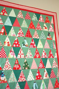 My very favorite Christmas quilt with those nostalgic retro prints! It's by Amy Smart at Diary of a Quilter and can really make wonderful use of an AccuQuilt Go!