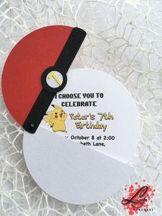 Set of 10 Pokemon Birthday Invitations by LusyFashionJewelry More