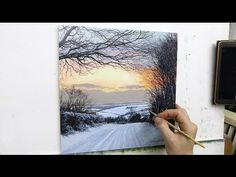 #57 HOW TO PAINT A SNOWY ROAD | Oil Painting | Michael James Smith - YouTube
