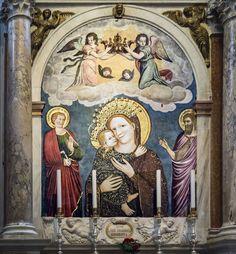 Stefano da Ferrara, (1350 ca.) ~ Madonna del Pilastro, (Madonna con il Bambino Gesù) ~ Basilica di Sant'Antonio, Padova .