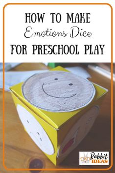 √ Feelings and Emotions Preschool Worksheets . 2 Feelings and Emotions Preschool Worksheets . How to Make Emotions Dice for Preschool Play Social Emotional Activities, Emotions Activities, Eyfs Activities, Nursery Activities, Social Emotional Development, Work Activities, Infant Activities, Feelings Preschool, Preschool Themes