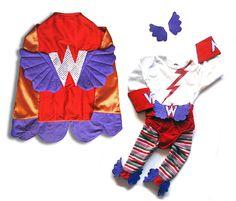 Handmade Super Hero Toddler Girl's Halloween Costume
