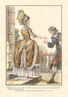 Color lithograph of the late 18th century: French.