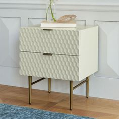 west elm Audrey Nightstand – Parchment - Home Accessories Decor At Home Furniture Store, Small Furniture, Modern Furniture, Furniture Design, Furniture Ideas, Bedroom Furniture, 2 Drawer Nightstand, Bedside Cabinet, Room Planning