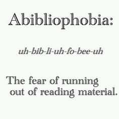 Probably why I tend to buy more than one book at a time....