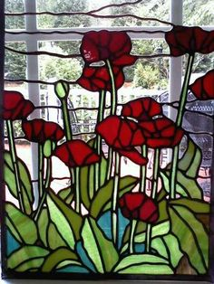 Poppies Are A Special Flower To Me Belladonna Stained Gl Flowers Designs
