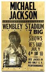 Michael Jackson Wembley Stadium Concert Poster