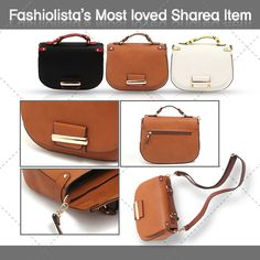 This is Fashiolista's most loved item of Sharea. Half moon cross body mini bag. Follow us at Fashiolista here http://www.fashiolista.com/style/Sharea/ and Check out our product here http://thesharea.com/