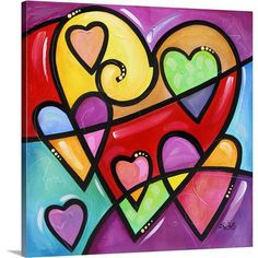Canvas On Demand 'A lot of heart I' by Eric Waugh Painting Print on Canvas Size: