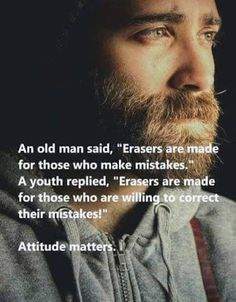Why we have erasers, correcting our mistakes, motivational memes True Quotes, Great Quotes, Motivational Quotes, Wisdom Quotes, Inspirational Thoughts, Good Thoughts, Positive Thoughts, Positive Attitude, Beautiful Words