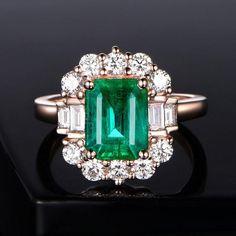 Rose Gold Promise Ring, Art Deco Wedding Rings, Wedding Bands, Engraved Rings, 18k Rose Gold, Beautiful Rings, Diamond Engagement Rings, Gold Rings, Natural Emerald