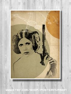 Princess Leah, Star Wars poster, Sci-Fi movie poster, Star Wars movie, Movie poster, Star Wars Art, Star Wars print, Wall Art decor by PosterInvasion on Etsy