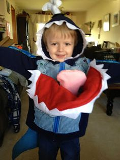 """Cole here - Smash asks Squirt """"What do you want to be for Halloween?"""" Squirt says - """"A Blue Whale"""" Mommy says - Groan. Whale Costume, Homemade Halloween, Blue Whale, Baby Car Seats, Costumes, Children, Young Children, Boys, Dress Up Clothes"""