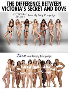 The difference between Victoria's Secret and Dove campaigns…
