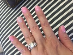 Sns American Manicure Nails Pinterest American