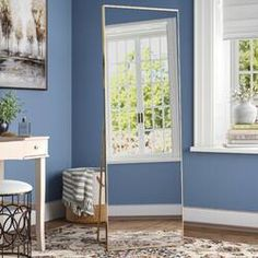 New Martinsen Full-Length Mirror by Mercury Row Home Decor Furniture. Fashion is a popular style Modern Full Length Mirrors, Las Vegas, Vanity Set With Mirror, Dresser Mirror, Mirrors Wayfair, Decor Pillows, Wall Mounted Mirror, Stand Design, Organizer