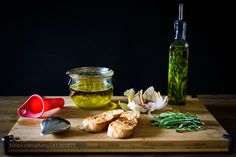 Homemade garlic oil & herb oil. by mackinpo #food #yummy #foodie #delicious #photooftheday #amazing #picoftheday