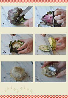 Como limpar alcachofra                                                                                                                                                      Mais