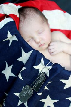 If she's born on memorial day- remember to get vintage flag to wrap her in with matching big bow