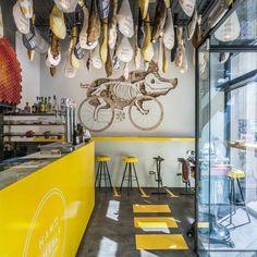 Jamón sobre ruedas, un divertido restaurante en Barcelona