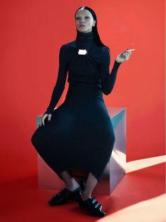 Mariacarla Boscono por Mert & Marcus para Vogue Paris Novembro 2014 [Editorial]