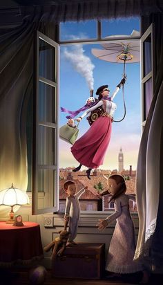 Steampunk Mary Poppins - freakin' awesome (and makes a lot more sense)!