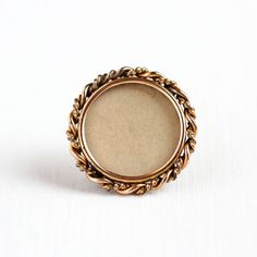 Sale - Antique 10k Rose Gold Filled Round Photographic Brooch Pin - Vintage Edwardian 1910 Add Your Picture In Memory Jewelry Accessory