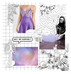 """i can't sleep because what if i dream?"" by maiakay ❤ liked on Polyvore featuring NK iMode, purple, tumblr, grunge and blink"