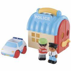 Polizeistation Spielset zum Mitnehmen mit Funktion ELC Happyland: Amazon.de: Spielzeug