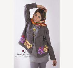 Narges Jokar F / W 2014 / 2015 flower applique jacket