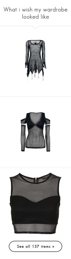 """""""What i wish my wardrobe looked like"""" by hogwartshornbills on Polyvore featuring dresses, tops, shirts, sweaters, layered long sleeve shirt, double layer shirt, layered tops, embellished tops, layering long sleeve tops and crop tops"""