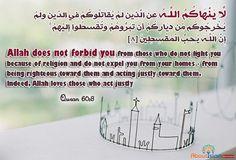 Allah Loves The Just Allah Love Allah Quran