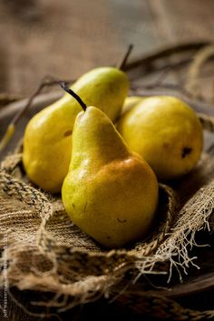 Barlett Pears in Rustic Setting by Jeff Wasserman for Stocksy United