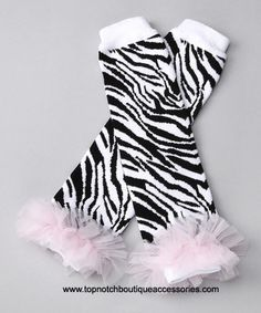 Baby Leg Warmers Zebra Light Pink Ruffles $18.00 These will definitely be on the list of stuff to get baby love :)