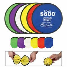 """Collapsible Nylon Flying Disc w/Pouch (10"""")"""