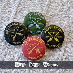 Harry Potter Quiddich Logo Pinback Button by BlackSheepButtons