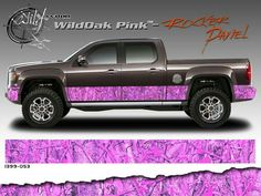 Camo decals for the edge of the truck