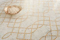 Luc, Afyon White and 24K gold glass mosaic   Aurora™ Collection   Sara Baldwin   New Ravenna