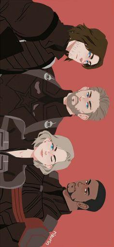 Avengers Infinity War || Captain America, Bucky, Black Widow & Falcon || Cr: Riz
